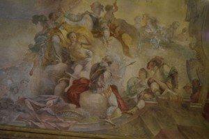 14-soffitto della sala con gli affreschi...rimasti