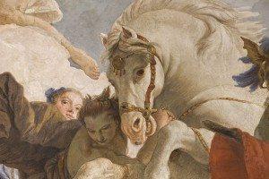 38-allegoria dell'Europa: particolare del cavallo Pegaso