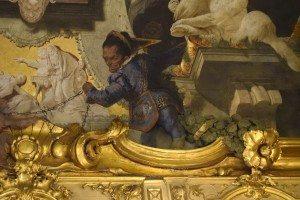41- allegoria delle arti:particolare con lo scudo dei visconti e dei clerici