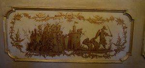 51-nella parte inferiore delle pareti è riportata lastoria della Gerusalemme Liberato di Tasso