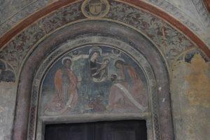 007-affresco della Vergine sopra il portale di ingresso