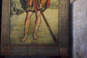 041-particolare di san Cristoforo (si vedono i pesci; in un altro quadro alla Sacra si vedrà una sirena)