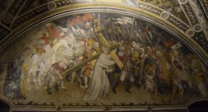 050-affreschi di Jaquerio: la salita al calvario