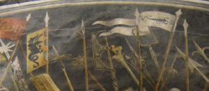 050bis-particolari: le bandiere; lo scorpione era simbolo degli ebrei