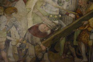 052-il Cireneo aiuta a portare la croce