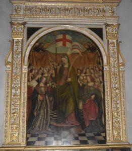 086-Pala di Sant'Orsola con le vergini di Defendente Ferrari (1510)