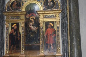 088-Madonna in trono tra i S. Crispino e Crispiniano (1535) di Defendente Ferrari