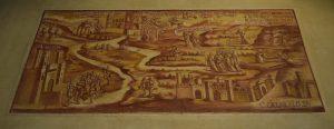 140-la leggenda dell'origine della Sacra; gli angeli e le colombe  portano i legni per costruire il santuario