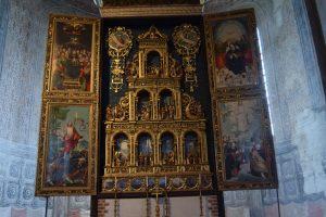 107-polittico in legno scolpito e dorato, di Oddone Pasquale (1533)