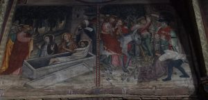 099-ciclo della passione del 1435: risurrezione di Lazzaro ed entrate in Gerusalemme